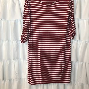 heart and hips Dresses - RED AND CREAM DRESS